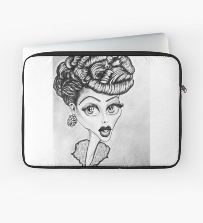 Lucille Ball Caricature Laptop Sleeve