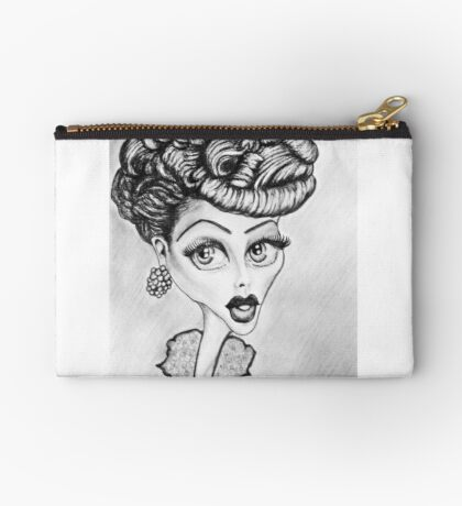 Lucille Ball Caricature Studio Pouch