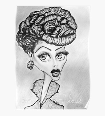 Lucille Ball Caricature Poster