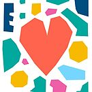 Mosaic Heart Collage by Adam Regester