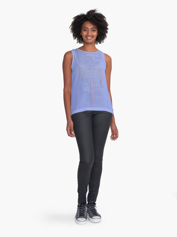 Alternate view of Stitches: City lines Sleeveless Top