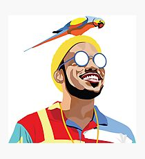 Anderson .Paak Vector Portrait Illustration Photographic Print