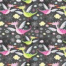 cheerful pattern of dragons by Tanor