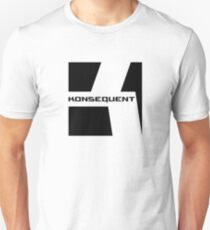 Konsequent Records Logo Slim Fit T-Shirt