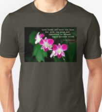 Orchids in Watercolour Quotation T-Shirt