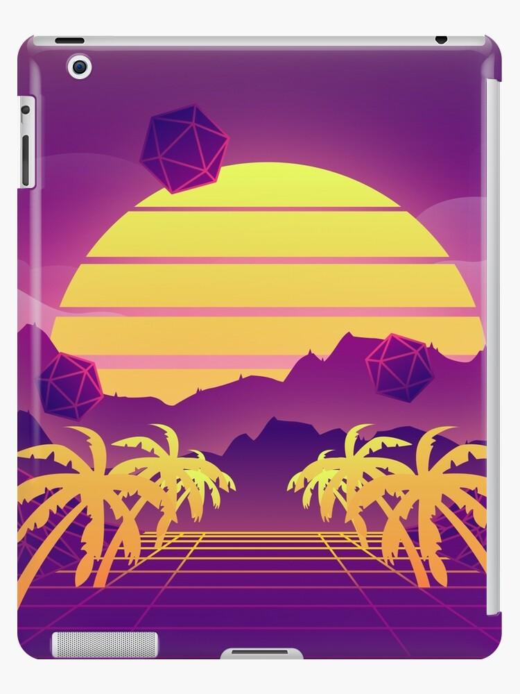 Vaporwave Sunset Background Ipad Case Skin By Robertllynch