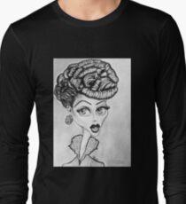 Lucille Ball Caricature Long Sleeve T-Shirt