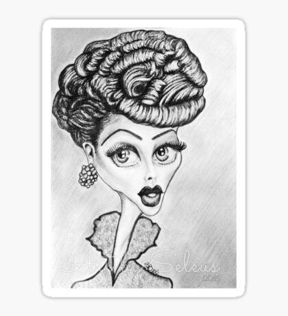 Lucille Ball Caricature Sticker