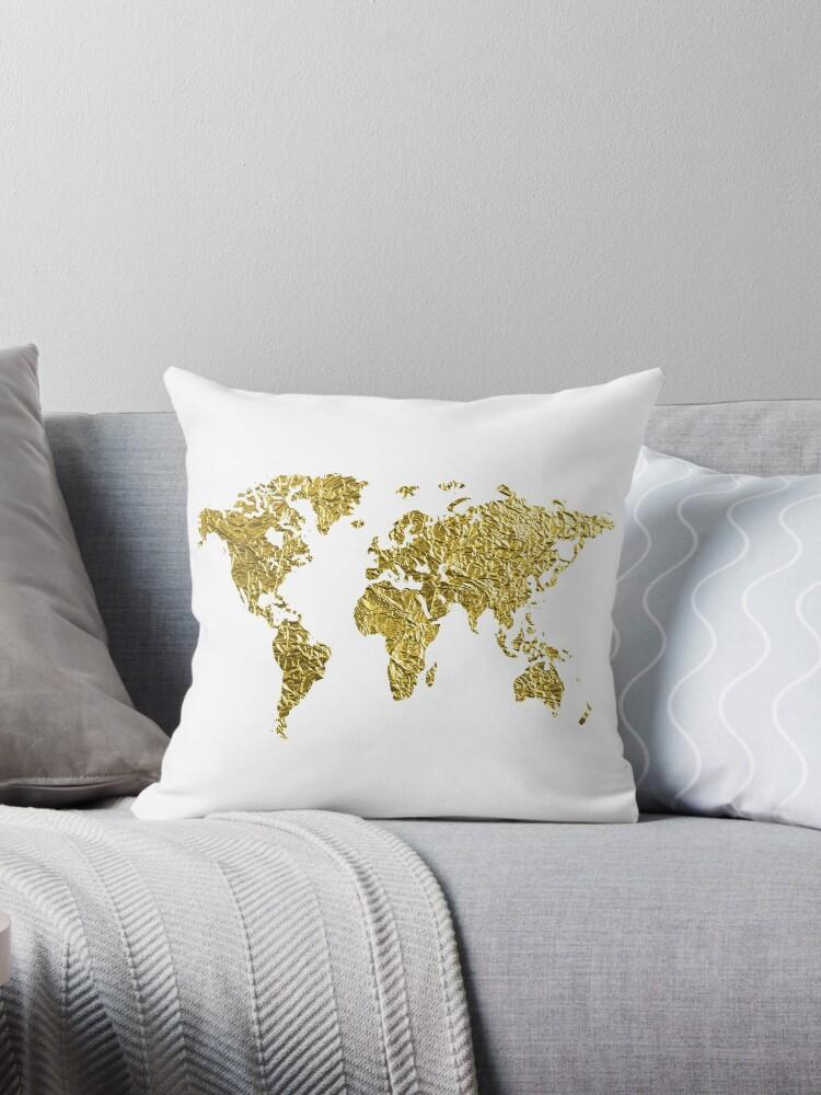 Goldfolie-Weltkarte von ahclock