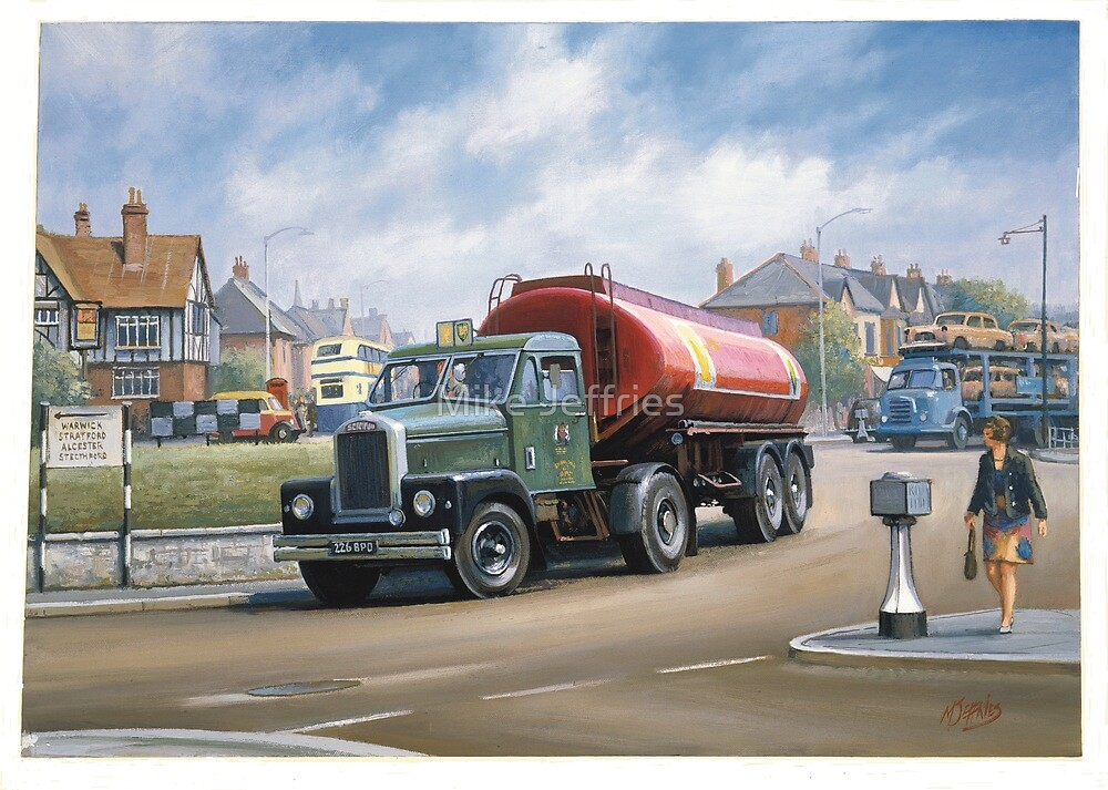 Scammell Highwayman tanker. by Mike Jeffries