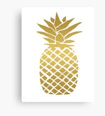 gold foil pineapple Canvas Print