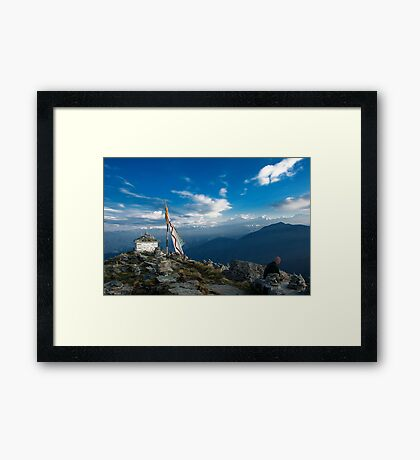 The Nature at 14000 feet Framed Print