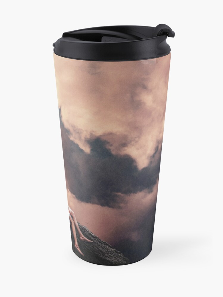Alternate view of You came from the Clouds Travel Mug