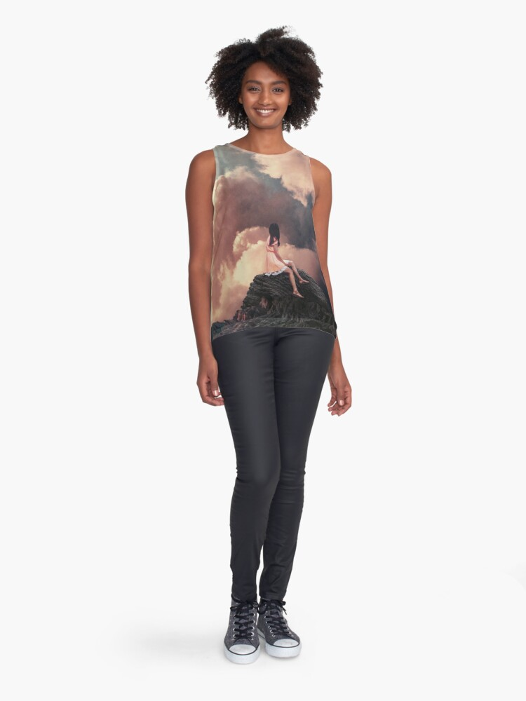 Alternate view of You came from the Clouds Sleeveless Top