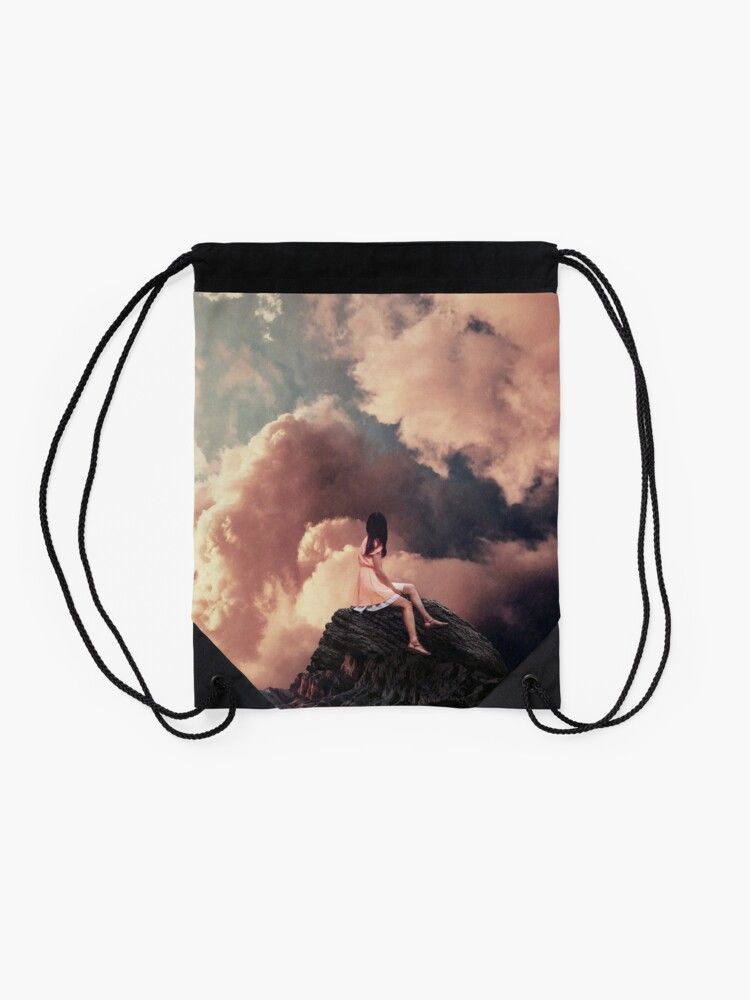Alternate view of You came from the Clouds Drawstring Bag