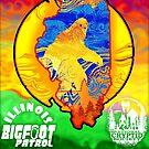 Illinois Bigfoot Patrol New State Sasquatch Monster Retro Cryptozoology by NationalCryptid