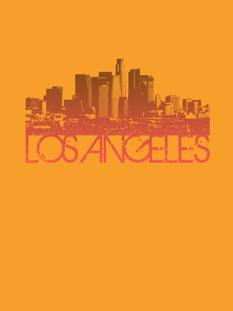 los angeles skyline t shirt design by flagsilhouettes
