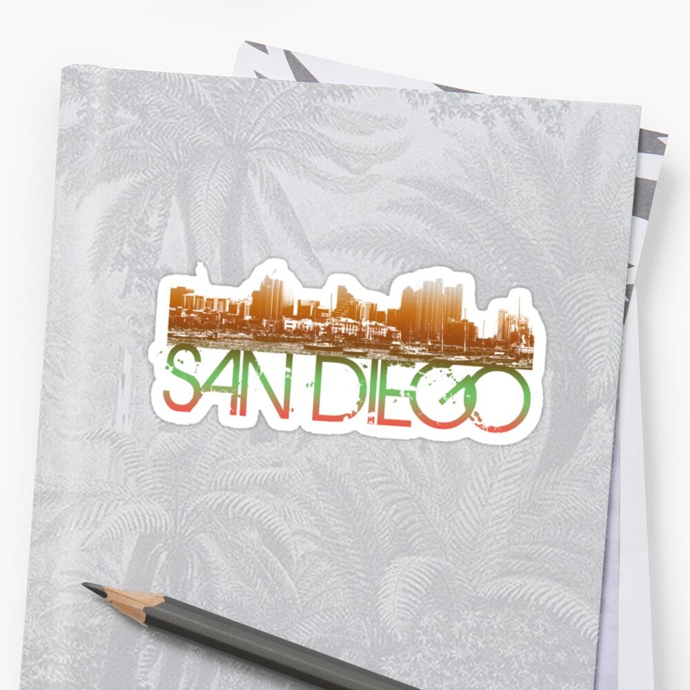 Shirt design san diego - San Diego Skyline T Shirt Design By Flagsilhouettes