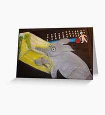 The story is in the eyes Greeting Card
