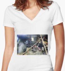 Railway Graveyard 10 Fitted V-Neck T-Shirt