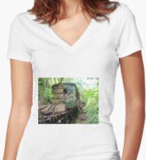 Railway Graveyard 12 Fitted V-Neck T-Shirt