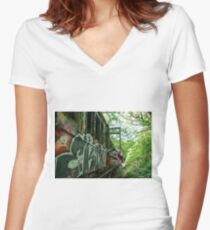 Railway Graveyard 13 Fitted V-Neck T-Shirt