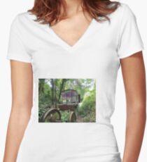 Railway Graveyard 14 Fitted V-Neck T-Shirt
