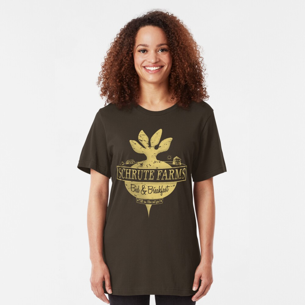 Schrute Farms (Special Mose Edition!) Slim Fit T-Shirt