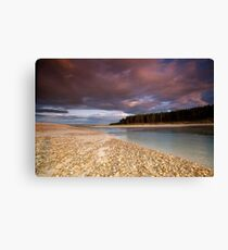 Sun set at Findhorn bay Canvas Print