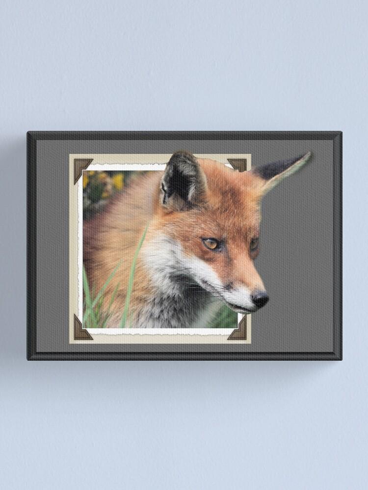 Alternate view of Framed Fox Canvas Print
