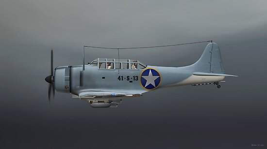 Douglas SBD Dive Bomber. by Walter Colvin