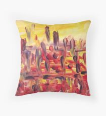 Downtown Feather Town Throw Pillow