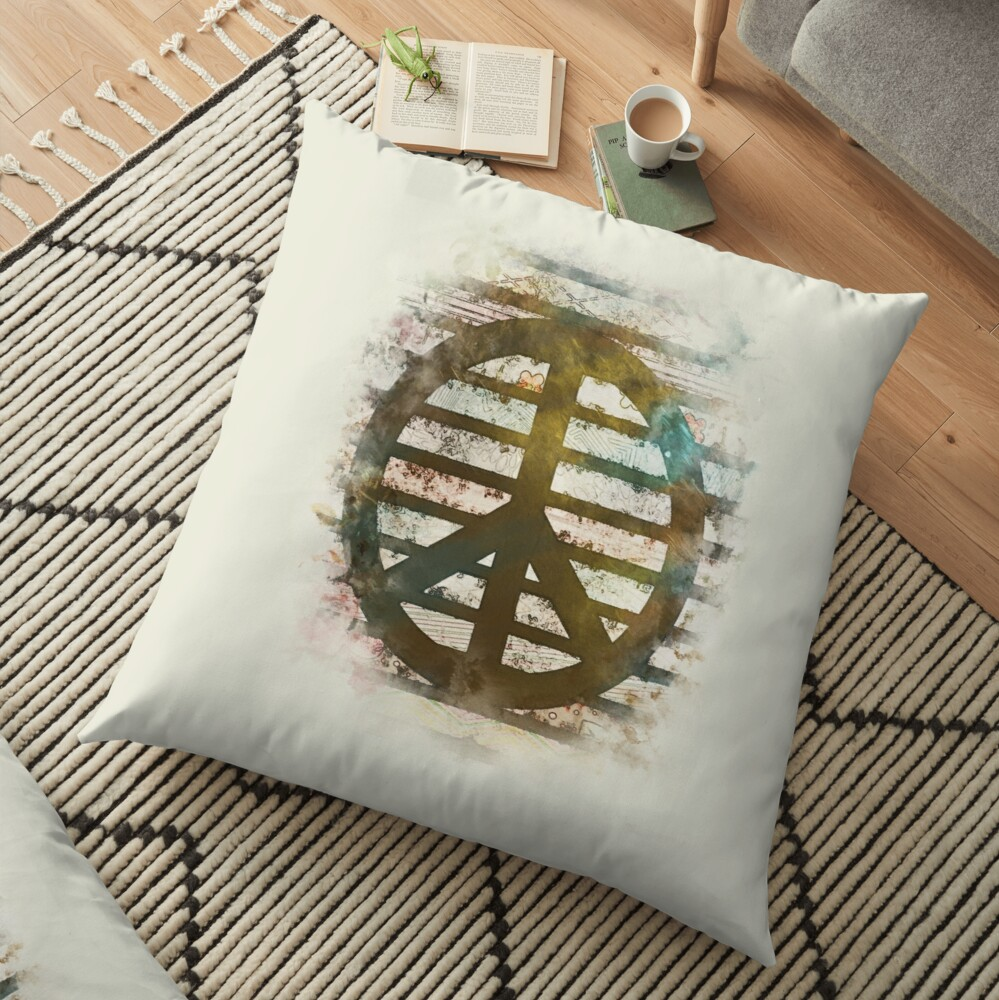 Peace - Retro Style Floor Pillow
