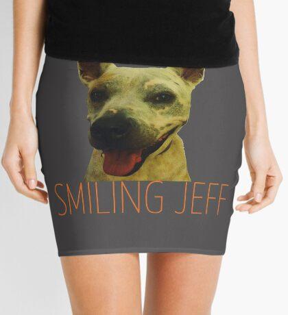 Smiling Jeff with Orange Text Mini Skirt