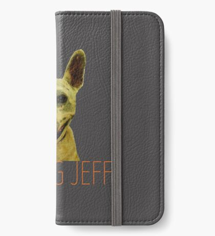 Smiling Jeff with Orange Text iPhone Wallet