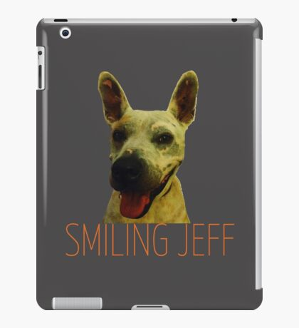Smiling Jeff with Orange Text iPad Case/Skin