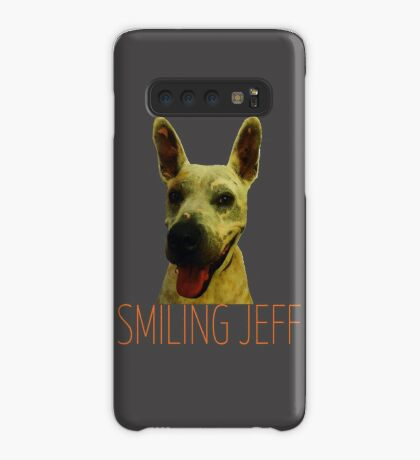Smiling Jeff with Orange Text Case/Skin for Samsung Galaxy
