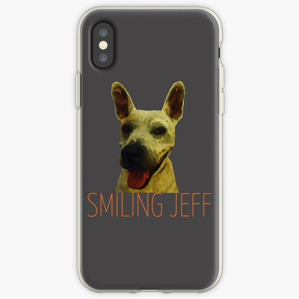Smiling Jeff with Orange Text iPhone Case & Cover