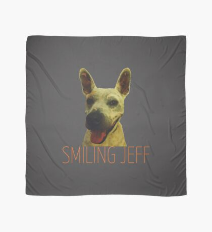 Smiling Jeff with Orange Text Scarf