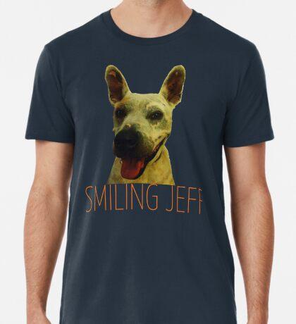 Smiling Jeff with Orange Text Premium T-Shirt