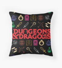 Dungeons & Dragons Icons Throw Pillow