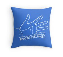 Dancing Phalanges in white Throw Pillow