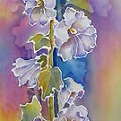 Summer's Hollyhocks by bevmorgan