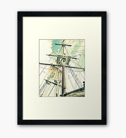 Through Her Masts and Spars Framed Print