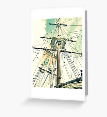 Through Her Masts and Spars Greeting Card