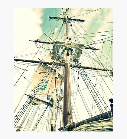 Through Her Masts and Spars Photographic Print