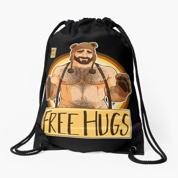 ADAM LIKES HUGS - BEAR PRIDE Drawstring Bag