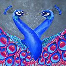 Peacock Love by Kellie Raines