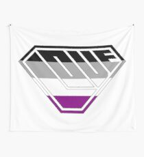 Love SuperEmpowered (Black, Grey, White & Purple) Wall Tapestry