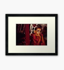 local koorie kids at Art Unit Framed Print